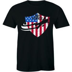 Red White Blue Air Force Flight Aviation T-shirt